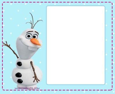 olaf frozen marcos para fotos