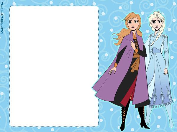 Tarjetas Frozen 2 elsa anna