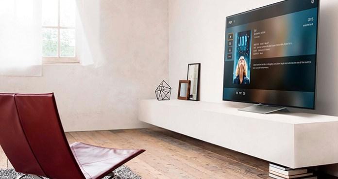 Comprei uma televisão nova...