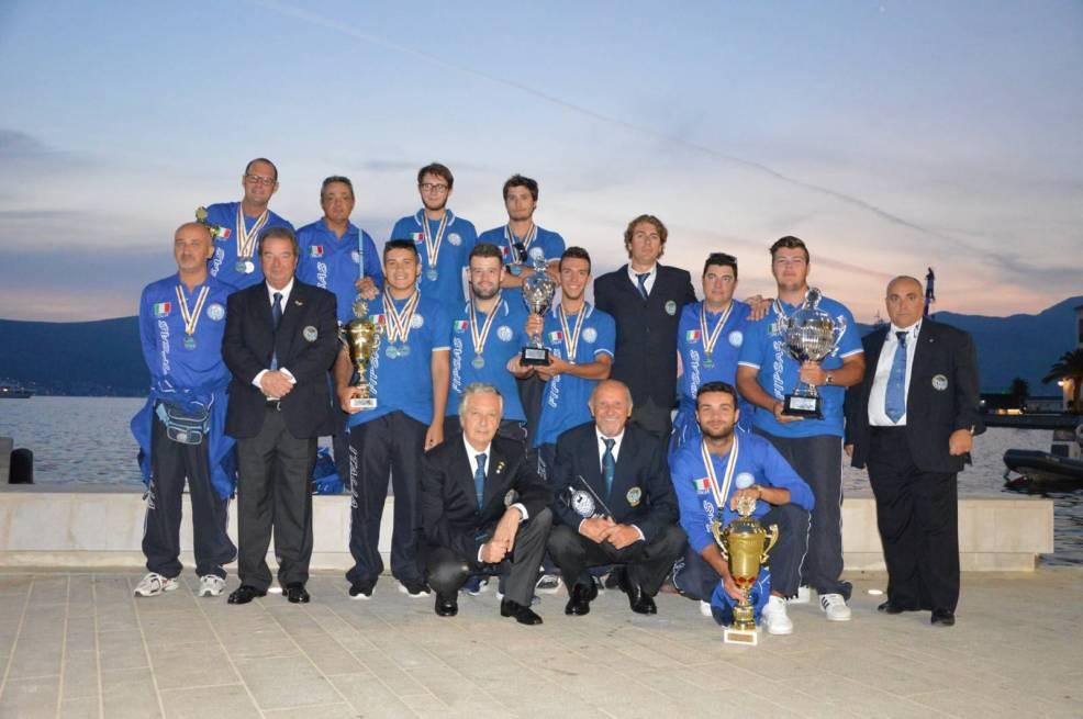 Tivat Montenegro Meloni Marco componente del Team Italia campione del Mondo per Nazioni