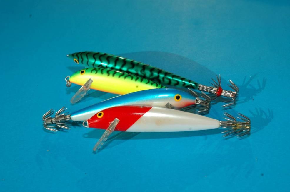 I Minnows della ditta Finlandese Rapala e commercializzati in Italia da Shimano sono sicuramente trai migliori artificiali per la cattura dei calamari a traina