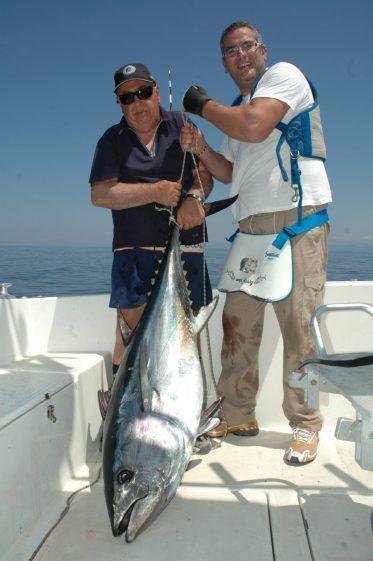 Un tonno catturato alla fine di luglio 2019