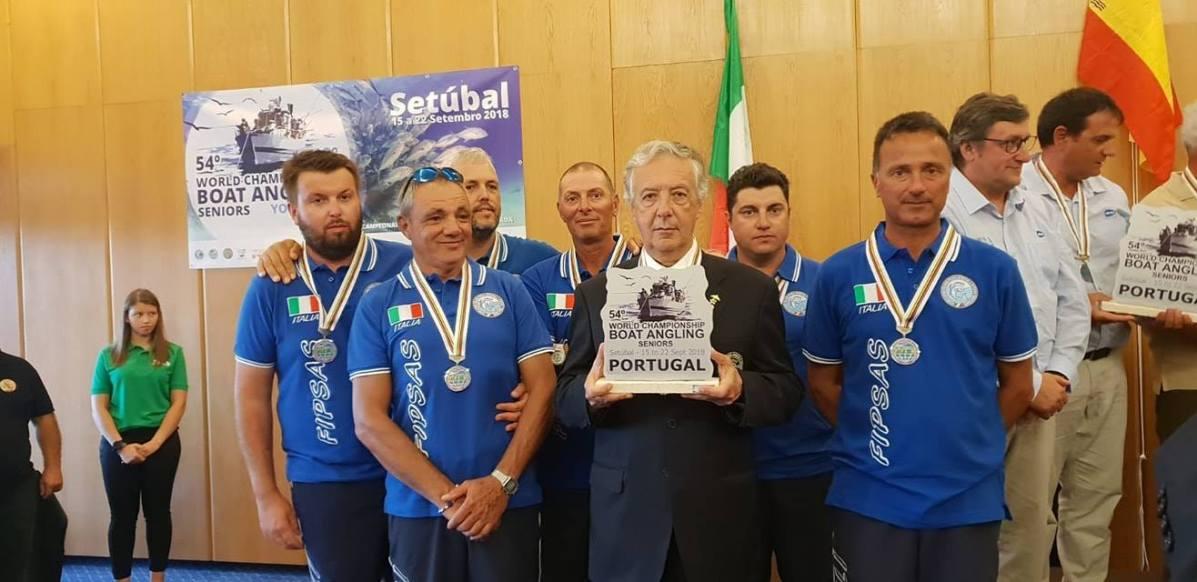 Mondiale Canna da Natante NAzionale italiana Medagli argento