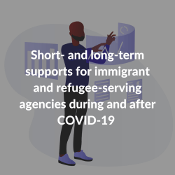 Short- and long-term supports for immigrant and refugee-serving agencies during and after COVID-19