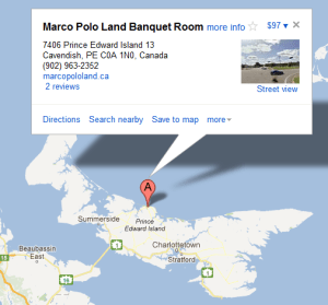 Directions to PEI Camping at Marco Polo Land Campground & Inn