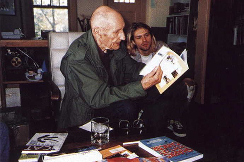 Kurt Cobain en William Burroughs - 1