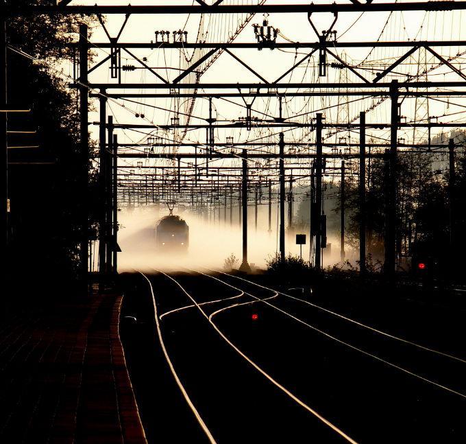 trein in mist
