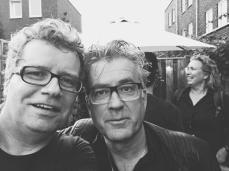 met zanger Pieter Bon