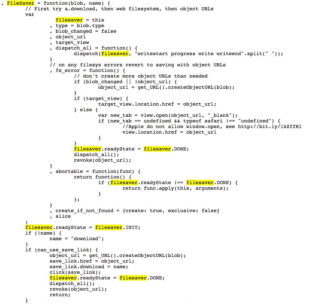 Filesaver Js Include