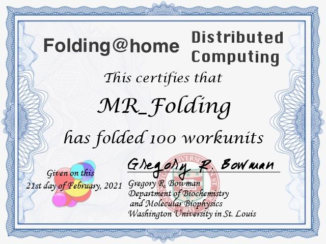 Folding Through Distributed Computing For Science