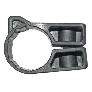 Round bar snap around bracket