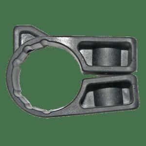 Round bar snap around bracket