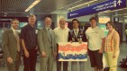 My Rotary Greeting commission at the MSP Airport, August 2009