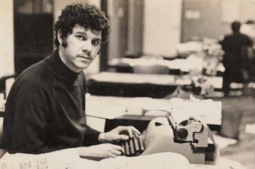 Marcos Faerman no JT em 1968.