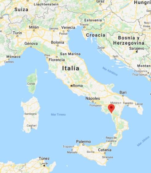 Mapa de Trecchina con todo Italia