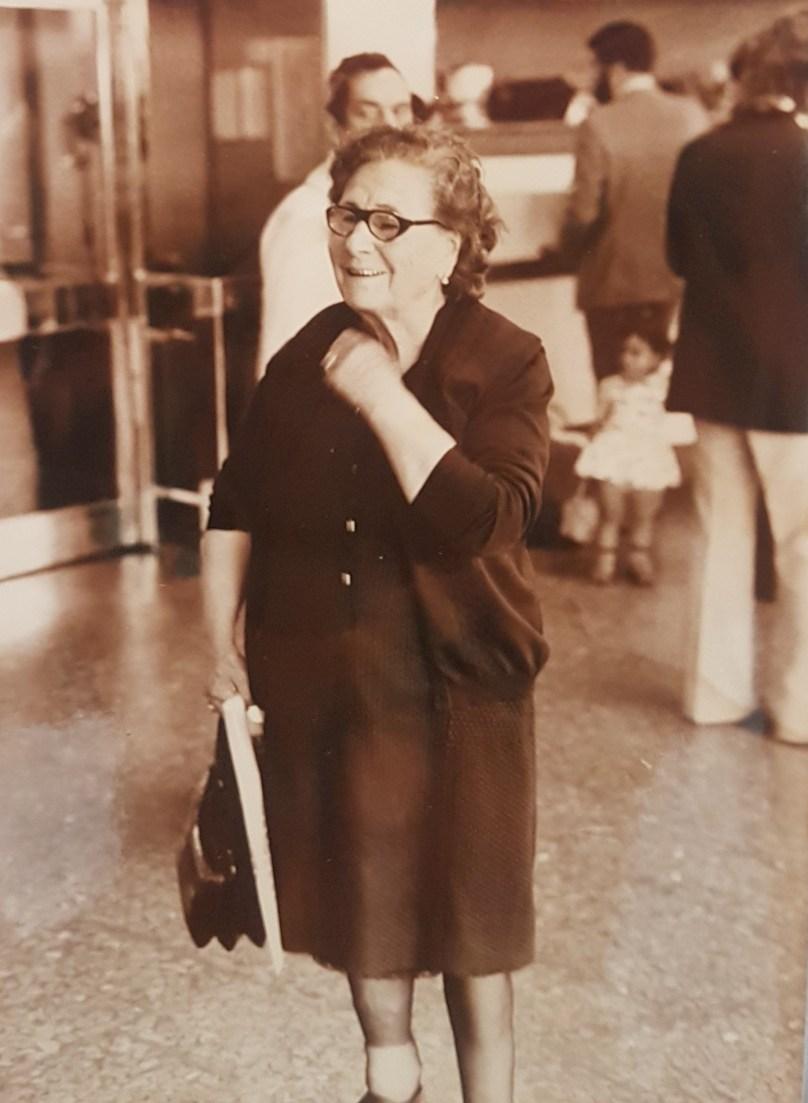 Abuela Rosa llegando a La Paz