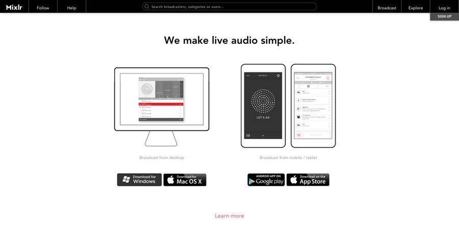mixlr streaming de audio de calidad para todos