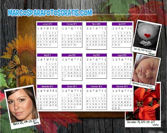 marcos de calendario 2013