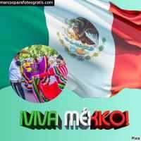 Marcos de fotos de Viva México, independencia 16 de Septiembre