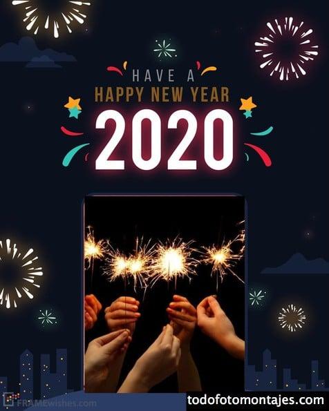 marcos de fotos feliz año nuevo
