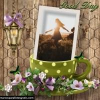 Marcos de fotos con tazas de café