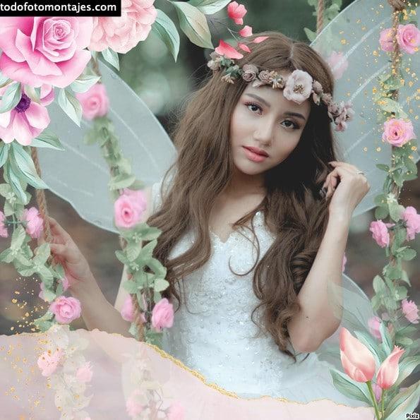 marcos de fotos con flores