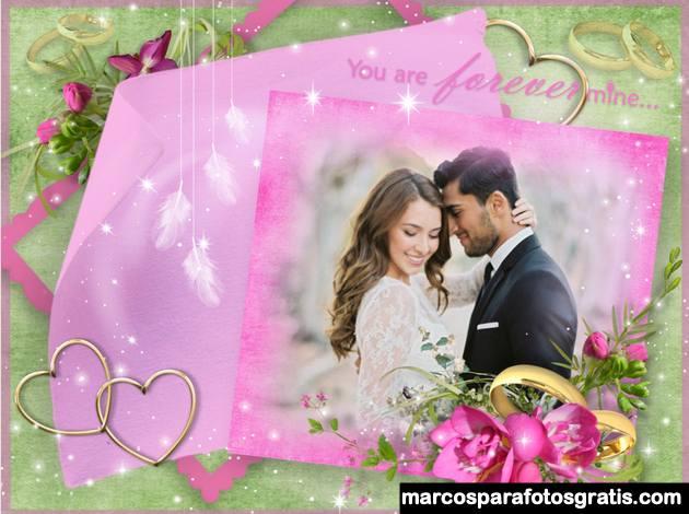 Marcos de fotos para boda y casamiento