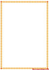 Borde para Hojas Decorativo Amarillo