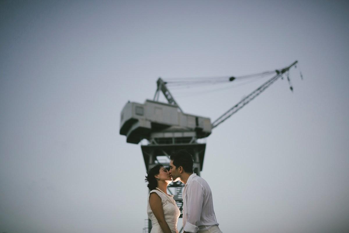 trash the dress at Red Hook, Brooklyn, New York. Destination Wedding Photographer Marcos Valdés