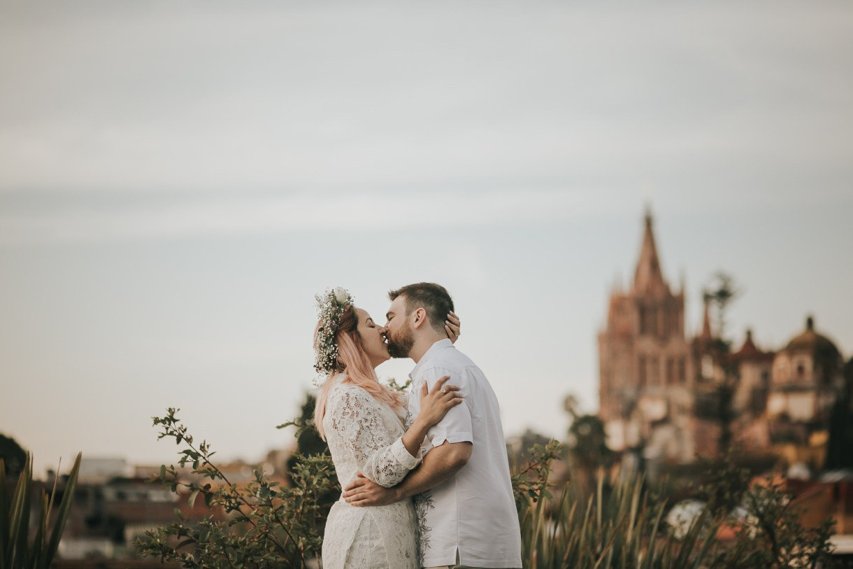 fun and love in wedding parade at San Miguel de Allende