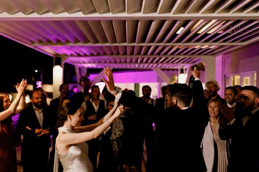 cheering during a portugal destination wedding