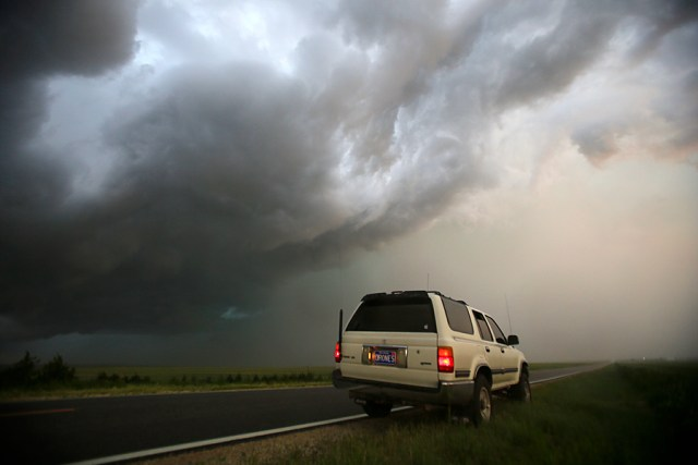 31 May 2015: A general look at a supercell near Sharon Springs, Kansas during a storm chasing trip to The Great Plains.