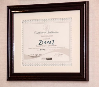 marcus dental certificat of qualification zoom 2 chairside whitening system provider - Tour The Office