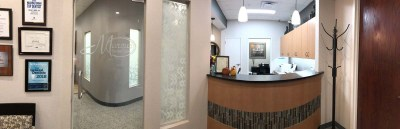 marcus dental front desk and glass door - Tour The Office