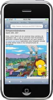 Simpsonizado no iPhone