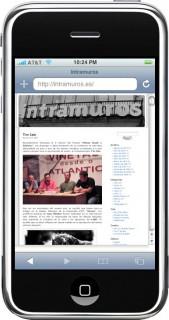 Intramuros.es no iPhone