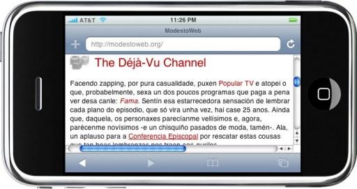 O blogue de Modesto no iPhone