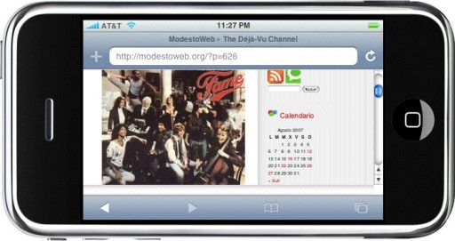 Imaxes no blogue de Modesto dende o iPhone