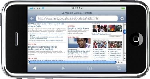 O interior de La Voz no iPhone