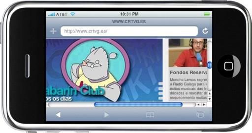 A web da Galega no iPhone