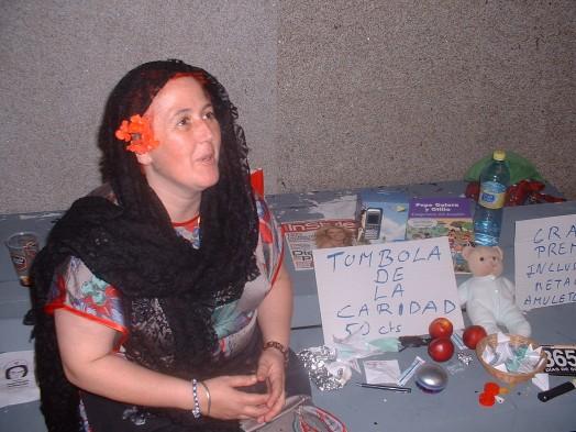 Fernanda montou unha tómbola no MariBingo