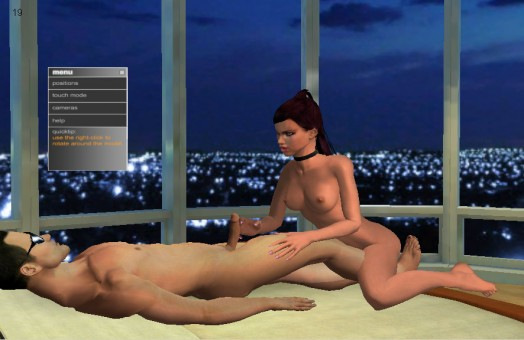 Escena de cama en Virtual Hottie 2
