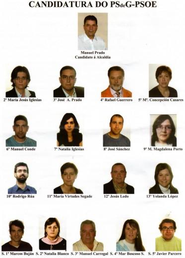 Candidatos do PSdeG melidense