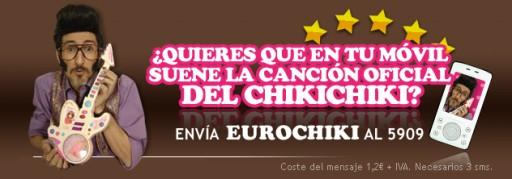Chiki Chiki no móbil mediante SMS Premium