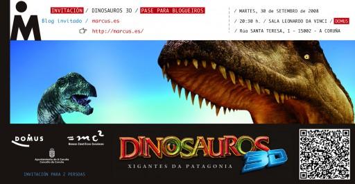 Invitación para Dinosauros 3D