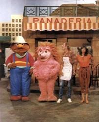 Espinete, Don Pimpón y Chema en Barrio Sésamo