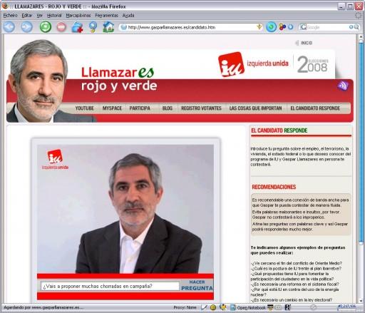 El Candidato Responde en Gasparllamazares.es