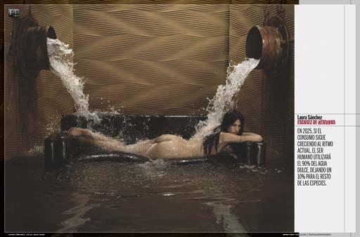 Laura Sánchez e a  escaseza da auga