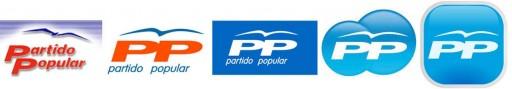 evolución dos logos do PP