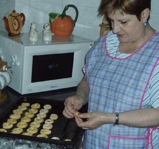 Isabel Otero Iglesias facendo melindres